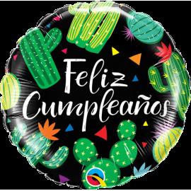 """18"""" Feliz Cumpleaos Cactus 01ct (minimo 3 unid)"""