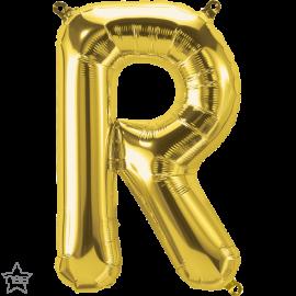 """16"""" Letra R- Oro ( 41cm ) Aire (Minimo 3 unid)"""