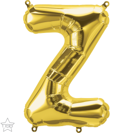 """16"""" Letra Z- Oro ( 41cm ) Aire (Minimo 3 unid)"""
