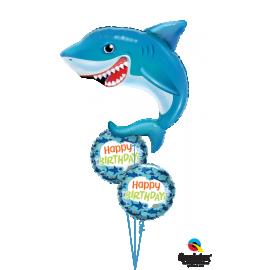 """18"""" Birthday Fun Sharks (Minimo 3 unid)"""