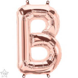 """16"""" Letra B -Rose Gold ( 41cm ) Aire (Minimo 3 unid)"""