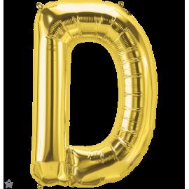 """34"""" Letra D Gold (86cm) (Minimo 1 unid)"""
