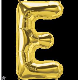 """34"""" Letra E Gold (86cm) (Minimo 1 unid)"""