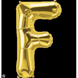"""34"""" Letra F Gold (86cm) (Minimo 1 unid)"""
