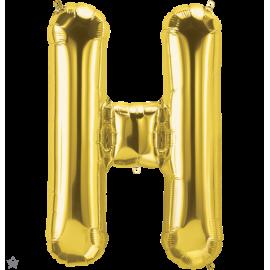 "34"" Letra H Gold (86cm) (Minimo 1 unid)"