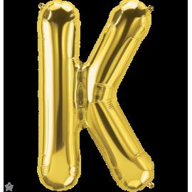 "34"" Letra K Gold (86cm) (Minimo 1 unid)"