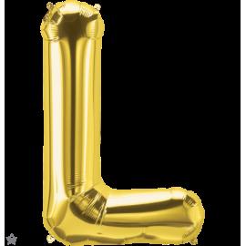 """34"""" Letra L Gold (86cm) (Minimo 1 unid)"""