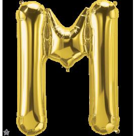 "34"" Letra M Gold (86cm) (Minimo 1 unid)"