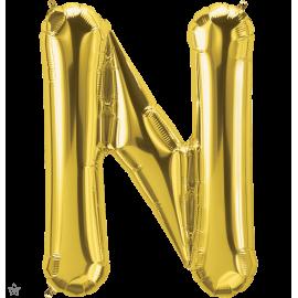 """34"""" Letra N Gold (86cm) (Minimo 1 unid)"""