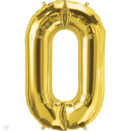 "34"" Letra O Gold (86cm) (Minimo 1 unid)"