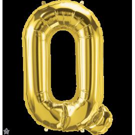 "34"" Letra Q Gold (86cm) (Minimo 1 unid)"