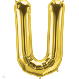 "34"" Letra U Gold (86cm) (Minimo 1 unid)"