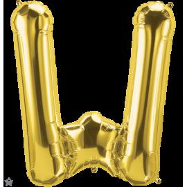 "34"" Letra W Gold (86cm) (Minimo 1 unid)"