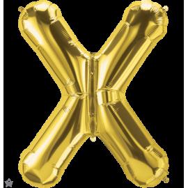 "34"" Letra X Gold (86cm) (Minimo 1 unid)"