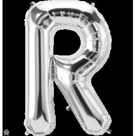"""34"""" Letra R Silver (86cm) (Minimo 1 unid)"""