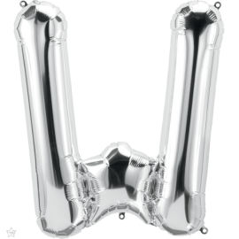 "34"" Letra W Silver (86cm) (Minimo 1 unid)"