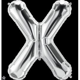 "34"" Letra X Silver (86cm) (Minimo 1 unid)"
