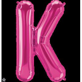 """34"""" Letra K Magenta (86cm) (Minimo 1 unid)"""