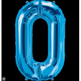 "34"" Letra O (86cm) Blue (Minimo 1 unid)"