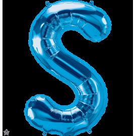 "34"" Letra S Blue (86cm) (Minimo 1 unid)"