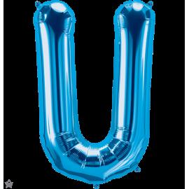 "34"" Letra U Blue (86cm) (Minimo 1 unid)"