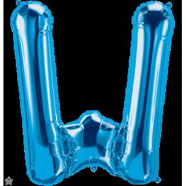 "34"" Letra W Blue (86cm) (Minimo 1 unid)"