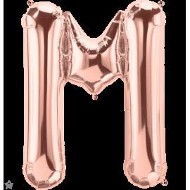 "34"" Letra M Rose Gold (86cm) (Minimo 1 unid)"