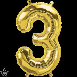 """16"""" Numero 3 Gold (41cm) (Minimo 3 unid)"""