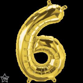 """16"""" Numero 6 Gold (41cm) (Minimo 3 unid)"""