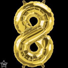 """16"""" Numero 8 Gold (41cm) (Minimo 3 unid)"""