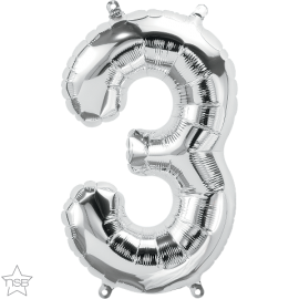 """16"""" Numero 3 Silver (41cm) (Minimo 3 unid)"""