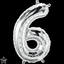 """16"""" Numero 6 Silver (41cm) (Minimo 3 unid)"""