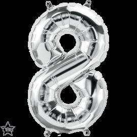 """16"""" Numero 8 Silver (41cm) (Minimo 3 unid)"""