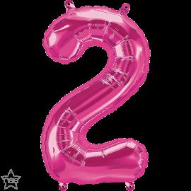 "16"" Numero 2 Magenta (41cm) (Minimo 3 unid)"