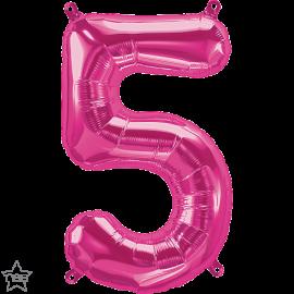 "16"" Numero 5 Magenta (41cm) (Minimo 3 unid)"