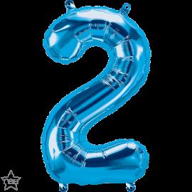 """16"""" Numero 2 Blue (41cm) (Minimo 3 unid)"""