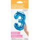 """16"""" Numero 3 Blue (41cm) (Minimo 3 unid)"""
