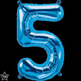 """16"""" Numero 5 Blue (41cm) (Minimo 3 unid)"""