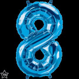 """16"""" Numero 8 Blue (41cm) (Minimo 3 unid)"""