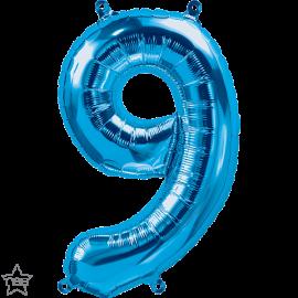 """16"""" Numero 9 Blue (41cm) (Minimo 3 unid)"""