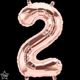 "16"" Numero 2 Rose Gold (41cm) (Minimo 3 unid)"