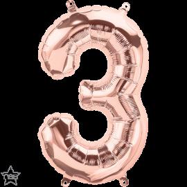 "16"" Numero 3 Rose Gold (41cm) (Minimo 3 unid)"