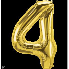 """34"""" Numero 4 Gold (86cm)"""