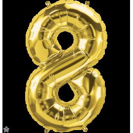 """34"""" Numero 8 Gold (86cm)"""