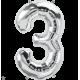 """34"""" Numero 3 Silver (86cm)"""