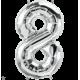 """34"""" Numero 8 Silver (86cm)"""