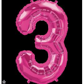 """34"""" Numero 3 Magenta (86cm)"""
