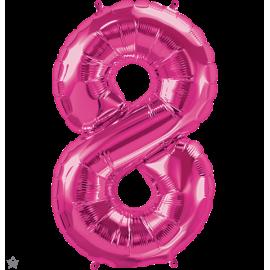"""34"""" Numero 8 Magenta (86cm)"""