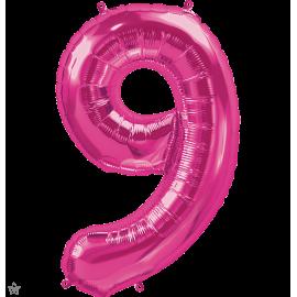 """34"""" Numero 9 Magenta (86cm)"""
