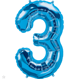 """34"""" Numero 3 Blue (86cm)"""